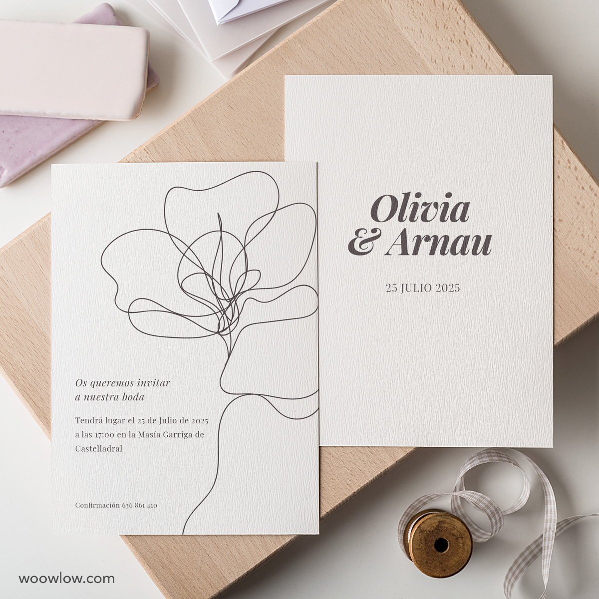 Invitación de boda papel 'Flower'