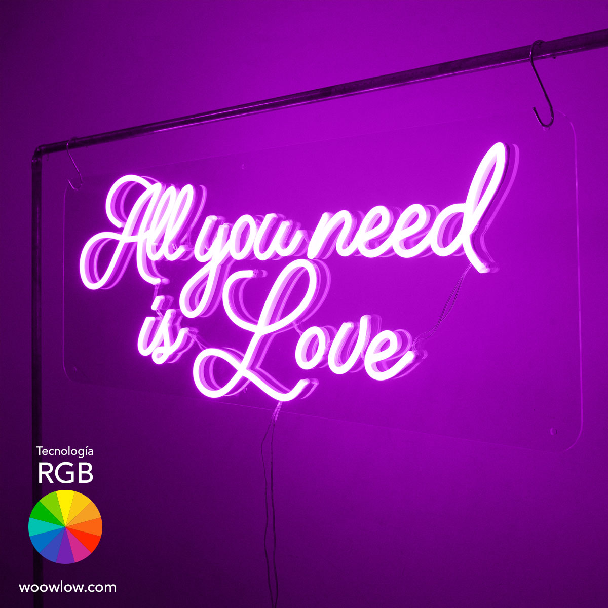 Alquiler Neón Boda RGB 'All you need is Love'