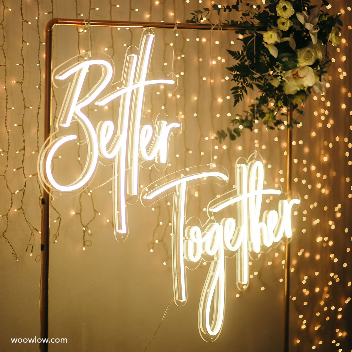 Alquiler de neón evento 'Better Together' Blanco